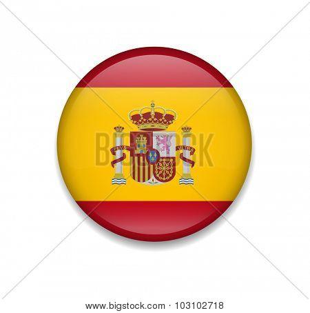 Spain Button Flag