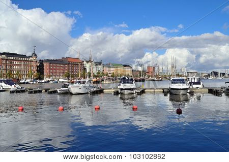 North Harbor In Helsinki