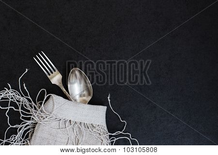 Fork and spoon.