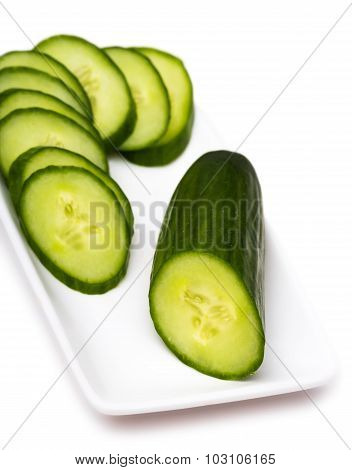 Cucumber Cut By Rings
