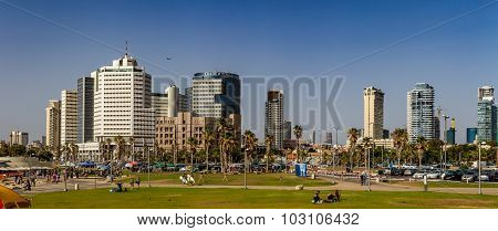 Tel Aviv, high-rise hotels. Panorama