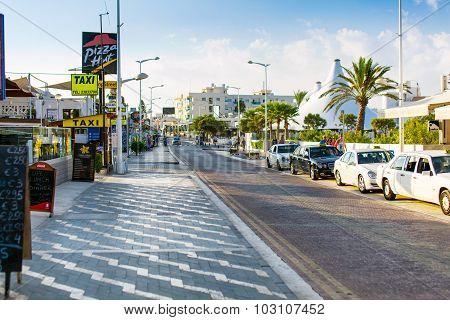 Street in Protaras