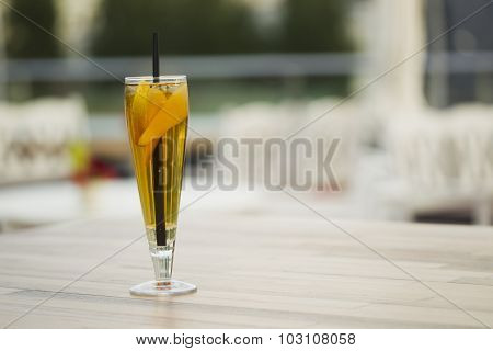 Lemonade With Pear And Ice.