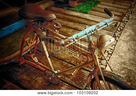 Old Bicycle Thai Style, Vintage Effect