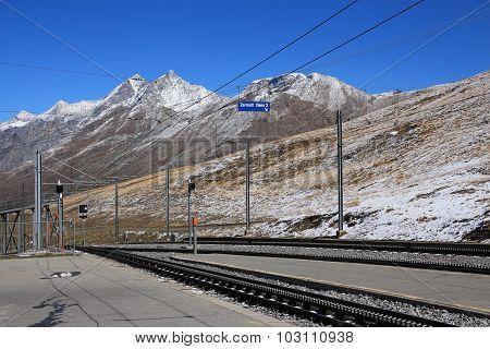 Railway Platform In Riffelberg, Zermatt