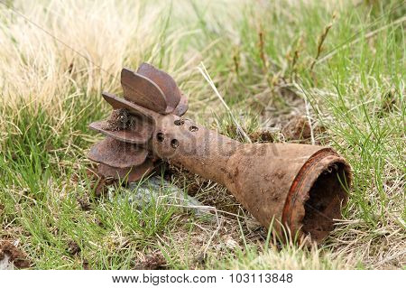 Bomb Shell Case Left In The Field