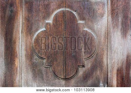 Detail On Old Wooden Door