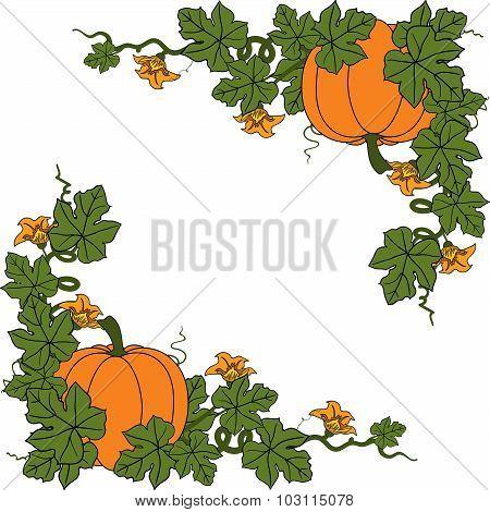 Pumpkin. Flat Design Style. Vector illustration