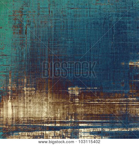 Old ancient texture, may be used as abstract grunge background. With different color patterns: brown; green; blue; gray