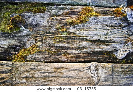 Old weathered wooden planks