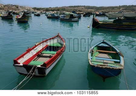 Two Fishing Boats Among The Other Boats