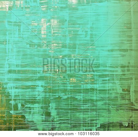 Old abstract texture with grunge stains. With different color patterns: yellow (beige); green; blue; cyan