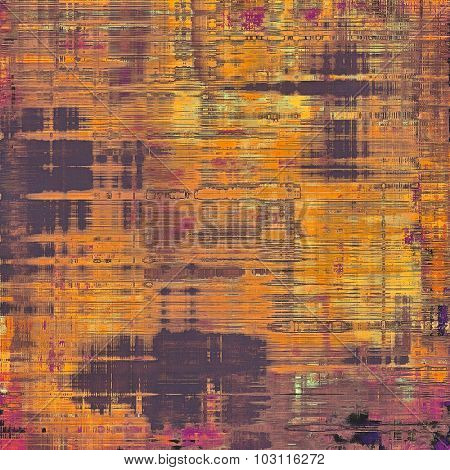 Computer designed highly detailed vintage texture or background. With different color patterns: yellow (beige); purple (violet); red (orange); pink