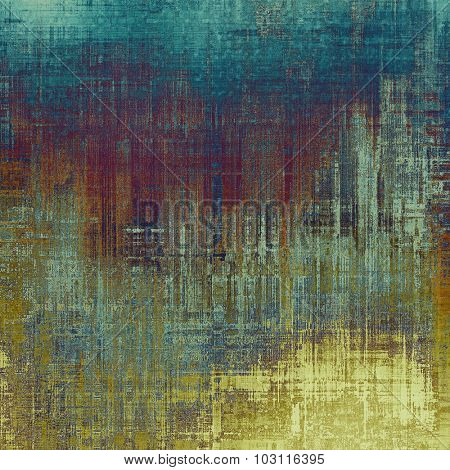 Computer designed highly detailed vintage texture or background. With different color patterns: yellow (beige); purple (violet); blue; gray