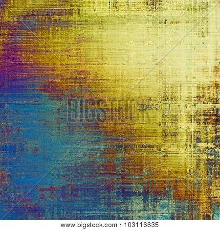 Old texture - ancient background with space for text. With different color patterns: yellow (beige); purple (violet); blue; cyan
