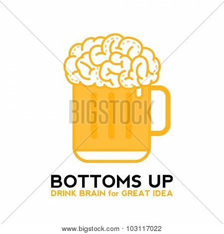Drink Brain Beer For Great Idea
