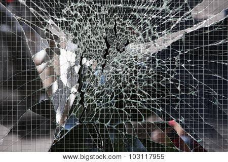 Broken Wire Glass