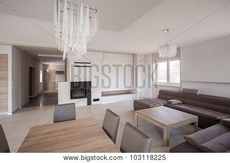 Large Angled Sofa