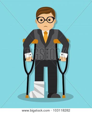 businessman invalid