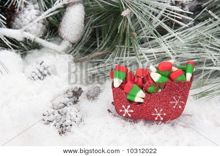 Christmas Candy In Sleigh