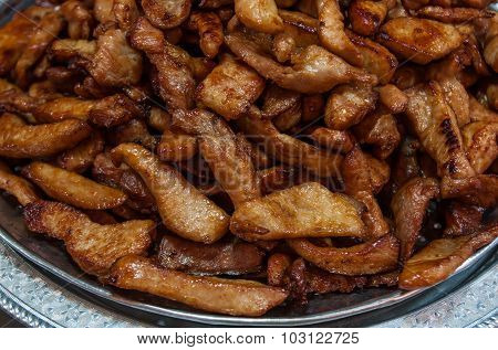 Fried Pork, Sold In The Market.