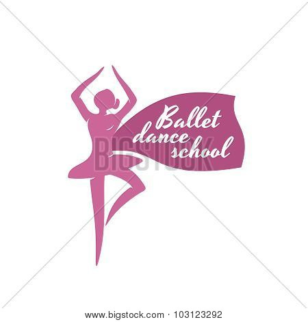Ballet Dance School Logo Template