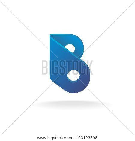 Letter B Logo Template. Construction Building Element Style.