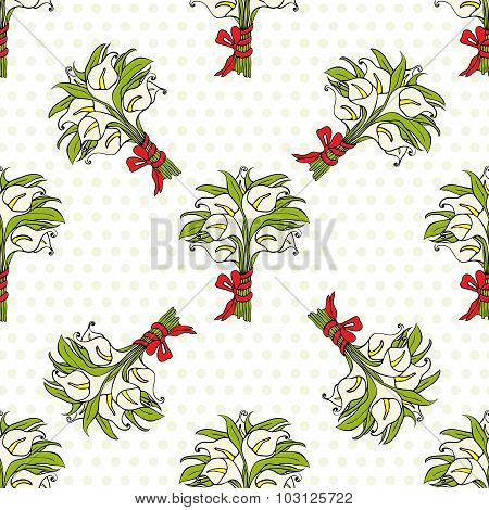 Calla Lilies Gift Bouquets Seamless Pattern