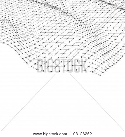 Wireframe Area Mesh Polygonal Surface