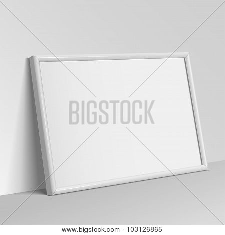 White Horizontal Frame For Paintings