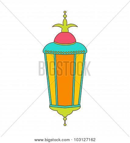 Arabic Colorful Lamp for Ramadan Kareem