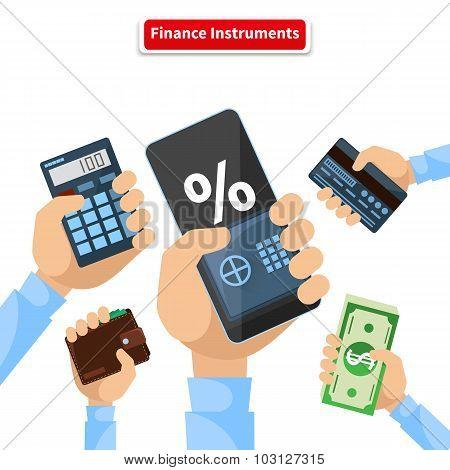 Finance Instruments Calculator Smartphone Money