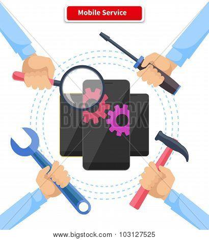 Concept Mobile Service Repair Gadgets