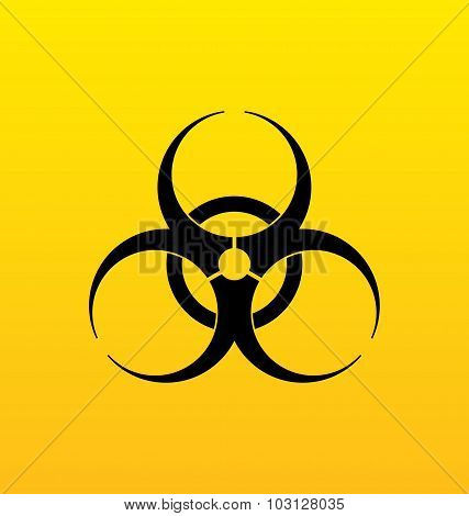 Bio hazard sign, danger symbol warning