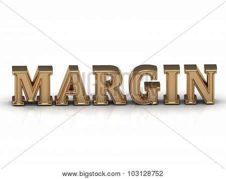 Margin - Bright Gold Letters