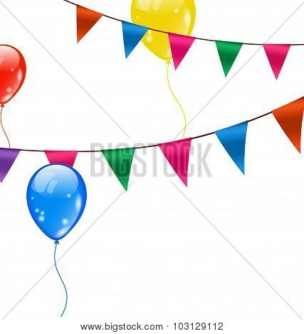 Colorful Hanging Buntings Pennants
