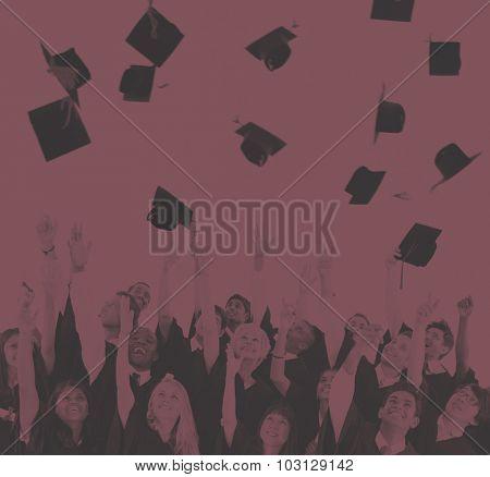 Graduation Student Life University Collage Concept