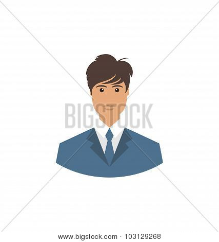 Front face portrait avatar office manager
