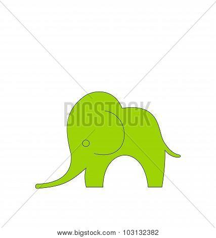 Cartoon Child of Elephant Isolated