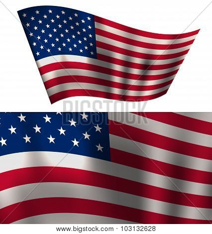 Flags USA Stars and Stripes for Independence Day 4th of July Pat