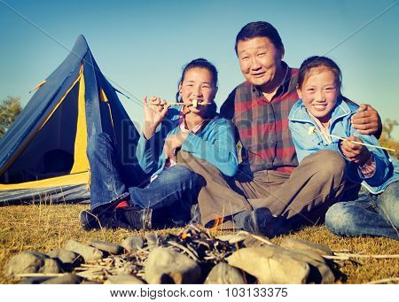 Asian Family Ethnicity Culture Enjoyment Independent Concept
