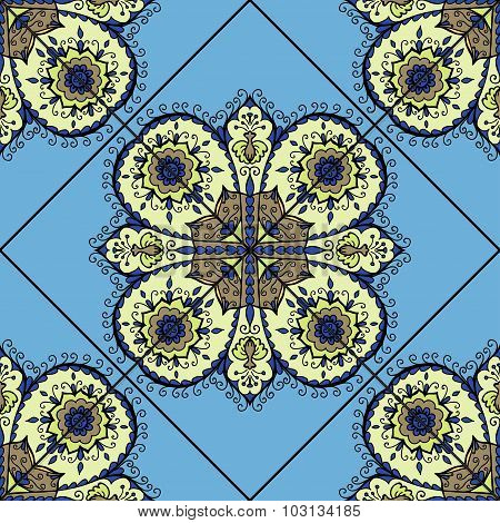 Colorful Moroccan tiles ornaments. Can be used for wallpaper, pattern fills, web page background, su
