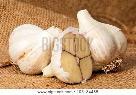 Two Whole And Half Head Of Garlic