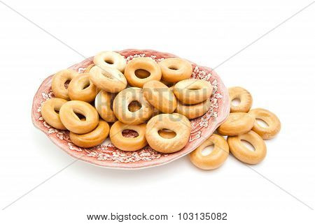 Bagels On A Pink Dish