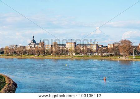 Mannheim Skyline With Castle