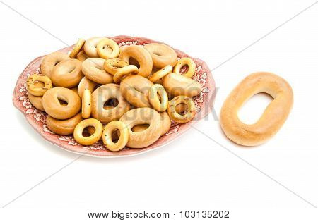 Different Bagels On A Plate