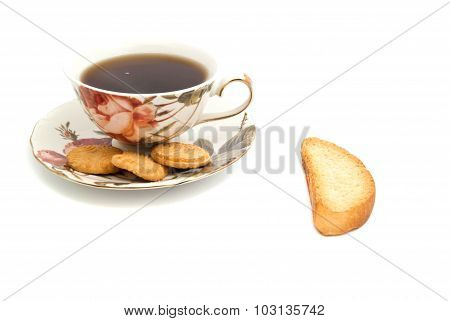 Cup Of Tea, Cookies And Cracker