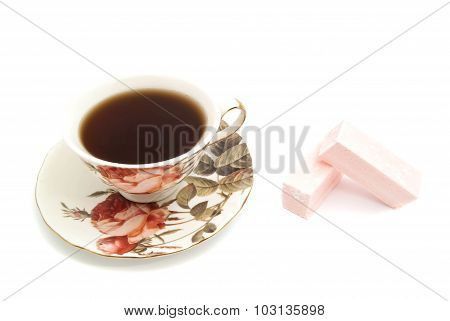 Sweet Paste And Cup Of Tea