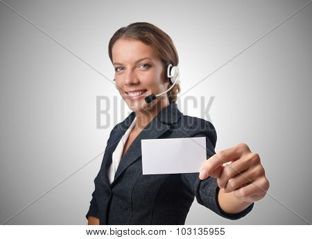Call center operator with blank message