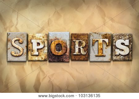 Sports Concept Rusted Metal Type